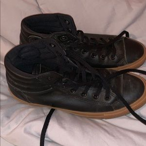 Converse Black Leather Gum Sole AllStars - Men's
